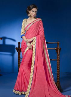 EXOTIC SELLERS!!  Observable Pink Patch Border Work Georgette Designer Saree  Product Order link : http://www.usarees.in/sarees/observable-pink-patch-border-work-georgette-designer-saree-2931  ITEM CODE: 2931 Color :Hot Pink Fabric :Faux Georgette Work :Patch Border Occasion :Festival Reception Price : Rs2,583  Call or Whatsapp : +919377152141 SHOP NOW!!