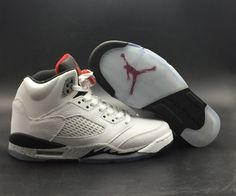 huge selection of 69c78 82105 Genuine Air Jordan 5 White Cement White University Red-Black-Metallic  Silver - Mysecretshoes. Hrsjadfuovh · Flyknit Running Shoes