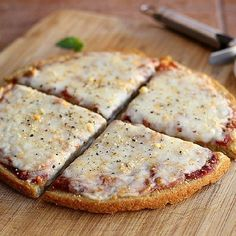 5-Ingredient Quinoa Pizza Crust...NO gluten, starches, eggs, or cheese needed to make this delicious, sturdy pizza base! You will love this!