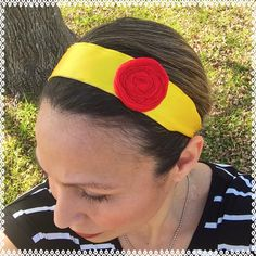 Belle inspired running headband 1.5 inches wide non slip by ChickyBands on Etsy https://www.etsy.com/listing/218698006/belle-inspired-running-headband-15