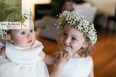 Babies breath halos - too cute! www.jademcintoshflowers.com.au www.somethingbluephotography.com.au