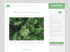 Lontano is free WordPress theme designed for blog topic. This is a clean, simple, modern and flexible theme. It suitable for blogs and magazine website.Theme features include unlimited colors and...