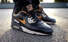 quality design 60bee db0f4 Nike Air Max 90 - Maple Creased Leather (by Jonas Cozone) Running Trainers