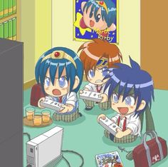 Super Smash Bros. - Marth, Roy, and Ike playing SSBB