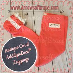 Antique Coral AddilynLace™ Leggings
