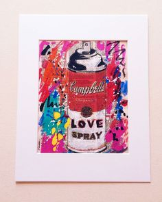 LOVE Original Painting Campbells Soup Spray Paint Pop Art Warhol Mr Brainwash #PopArt