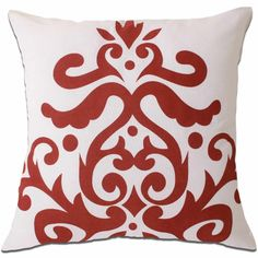 baroque white & red cushion covers $25.00