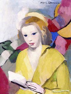 Reading Artwork by Marie Laurencin