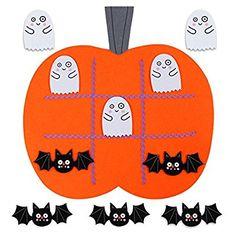 OurWarm Felt Tic Tac Toe Travel Games for Kids Educational Toys Halloween Games Ideas Pumpkin Decorations
