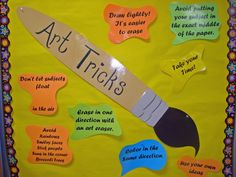Art Tricks bulletin board includes color in the same direction and take your time.