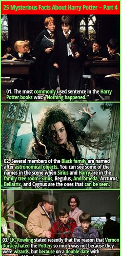 25 Magical & Mysterious Facts About Harry Potter - Part 4 Harry Potter Fun Facts, Harry Potter Parts, Harry Potter Comics, Harry Potter Jokes, Harry Potter Pictures, Potter Facts, Harry Potter Fandom, Harry Potter Hogwarts, Harry Potter Family Tree