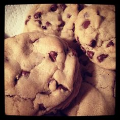 My first pin of my own creation! Chocolate chip cookies from scratch!