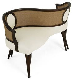 White and Black Luxury Kissing Couch (BB)