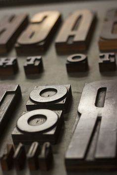 Back to the roots - Letterpress Workshop by Daniele Simonelli, via Behance