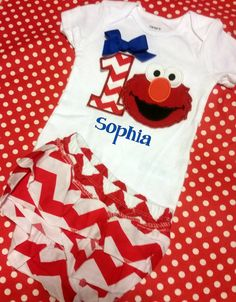 4th of July Birthday Outfit Red White and Blue Personalized elmo w Name and Number age monogrammed patriotic onesie shirt or tank w bloomers by EverleeBoutique on Etsy