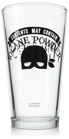 Iocane Powder Pint Glass - for drinking Princess Bride wine. And for matching wits with Sicilians when death is on the line!