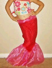 Sparkly Mermaid Tail--Sometimes, I wish I had a little girl to sew for--especially when I see things like this...