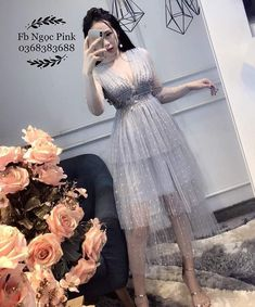 Korean Clothes, Korean Outfits, Simple Dresses, Cute Dresses, Evening Outfits, Summer Dresses For Women, Cool Style, Fashion Dresses, Tulle