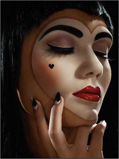 heart harlequin makeup
