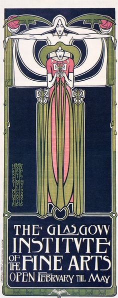 Creator: Frances Macdonald (Scottish graphic designer, 1874-1821) J. Herbert McNair (Scottish graphic designer, 1868-1955) Margaret Macdonald (Scottish graphic designer, 1865-1933) Date: 1895  Materials: color lithograph Measurements:  Work type: posters Image_Filename: 06092611