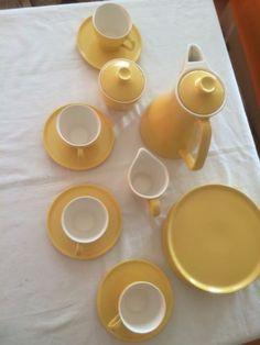 Melitta-ASCONA-Form-4-Kaffeeservice-4-Pers-Milch-U-Zucker-50er-Jahre