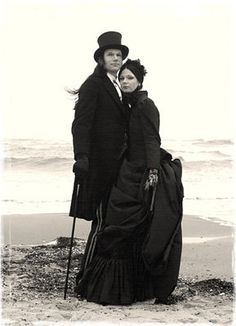 I love pictures of older goth couples. They make me happy for the future.