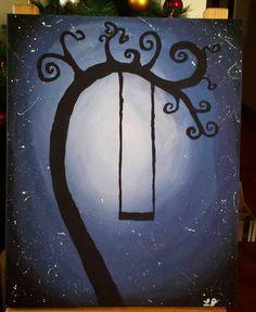 Just a painting I did drunkenly last weekend. My Tim Burton tree. #Painting #Art #Tree #Yeg #Yeggers #TimBurton #swing #Fun #Create #PhotoOfTheDay #Instagood #Stardust #Paint #artwork #creativelife by misswartooth88