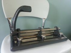 Awesome Industrial Vintage Three Hole Punch by JenniferHigbyArt, $20.00