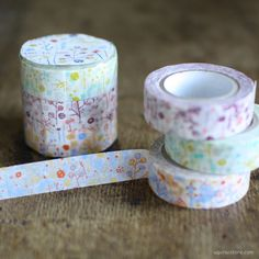 Ten-to-sen Washi Tape 3 Roll Set {Butterfly in Bush} by Rieko Oka | UGUiSU Online Store