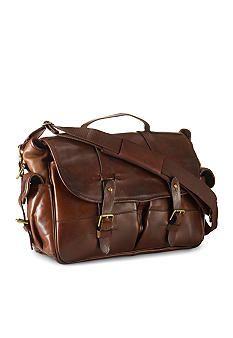 Polo Ralph Lauren Leather Messenger Bag #belk #gifts #men