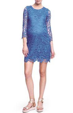 UrbanMA Crochet Maternity Shift Dress available at #Nordstrom