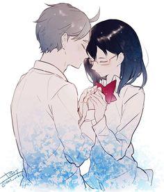 Shimizu Kiyoko, Sugawara Koushi, Korean People, Haikyuu Ships, Zoro, Anime Couples, Fan Art, Artist, Creative