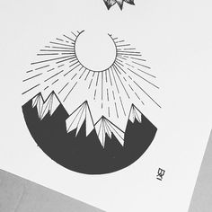 Oldie #illustrator #illustration #design #minimal #abstract #lines #linework #blackwork #blackworkers #blackandwhite #blxckink #ink #pen #tattoo #sun #mountain #art #artist #artwork #instaart #geometry #geometric #instafollow #evasvartur