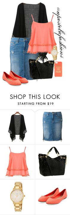 """""""Apostolic Fashions #1348"""" by apostolicfashions on Polyvore featuring Hudson, WearAll, MICHAEL Michael Kors and Kate Spade"""