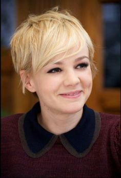 Best Short Haircuts Of All Time - Celebrity Short Hair Styles - Seventeen Cut My Hair, New Hair, Pixie Hairstyles, Straight Hairstyles, Carey Mulligan Hair, Carrie Mulligan, Pixie Cut Blond, Blonde Pixie, Pixie Cuts