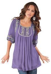 Plus Size Mirielle Embellished Tunic image