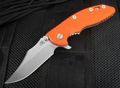"""Rick Hinderer XM-18 3.5"""" Bowie Blade - Orange G-10 - S35VN"""