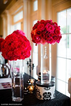 Erin Volante Floral: Black and white and HOT PINK wedding flowers!