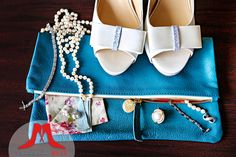 An adorable clutch is a perfect something blue.  :)