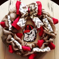 Another GA bulldog burlap wreath