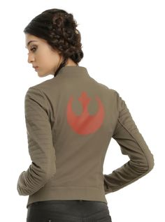 Show off your allegiance to the Rebel Alliance with this jacket inspired by the one Finn wears in Star Wars: The Force Awakens. (Hot Topic)