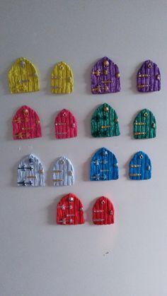 Fairy door fridge magnets  #fairydoor  #magikallittlethings #handmade #amazon #etsy
