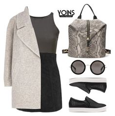 """""""YOINS"""" by baludna ❤ liked on Polyvore featuring moda, Glamorous, River Island, Linda Farrow y yoins"""