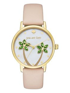 keep yourself on island time with this kate spade new york metro watch. the…