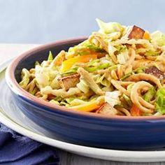 Roasted Tofu & Peanut Noodle Salad Recipe