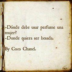 El #perfume forma parte de nuestra personalidad y Coco Chanel lo sabía muy bien...un consejo ahora que se acerca el fin de semana Emoticono wink #tusperfumesonline #adelantalanavidad