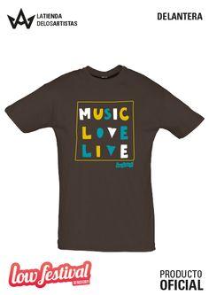 Camiseta del Low Festival 2014. Merchandising Oficial. Producto Oficial.