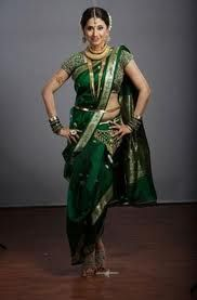 #Maharashtrian style #sari #saree looks very different with such #vibrant #colours in saree and the way it is draped.