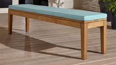 Regatta Dining Bench with Sunbrella ® Cushion | Crate and Barrel
