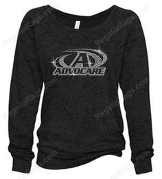 Love how sparkly these custom logo #RhinestoneSweatshirts that were created for AdvoCare Distributors turned out!!!  Contact us via email or PM to make your logo SPARKLE too!! Great marketing tool, team member gift and more!